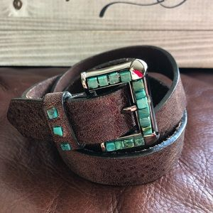 Rustic & Beautiful Turquoise Inlayed Belt
